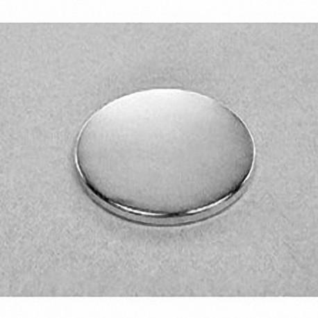 "DY02 Neodymium Disc Magnet, 2"" dia. x 1/8"" thick"