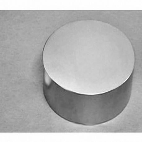 "DY8X0-N52 Neodymium Disc Magnet, 2 1/2"" dia. x 1"" thick"