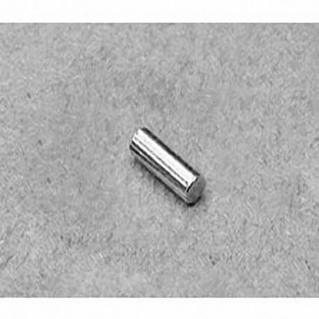 "D26 Neodymium Cylinder Magnet, 1/8"" dia. x 3/8"" thick"