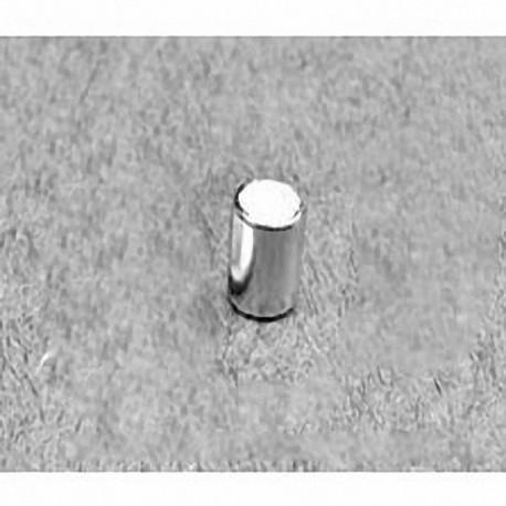 "D34-N52 Neodymium Cylinder Magnet, 3/16"" dia. x 1/4"" thick"