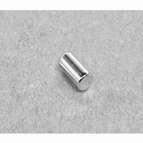 "D36 Neodymium Cylinder Magnet, 3/16"" dia. x 3/8"" thick"