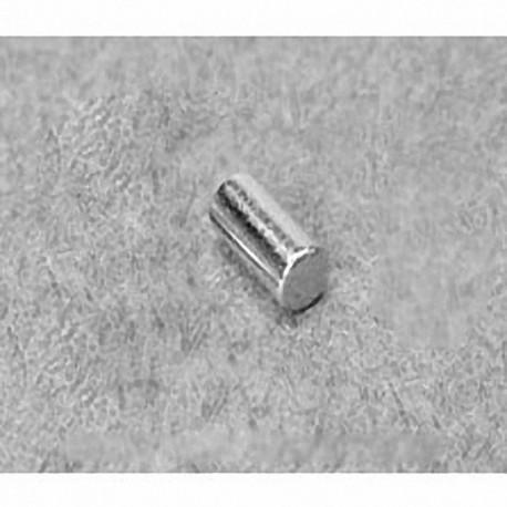 "D36DIA Neodymium Cylinder Magnet, 3/16"" dia. x 3/8"" thick"