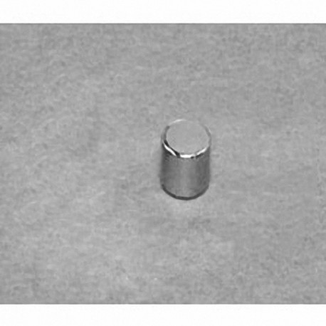 "DH2H2 Neodymium Cylinder Magnet, 2/10"" dia. x 2/10"" thick"