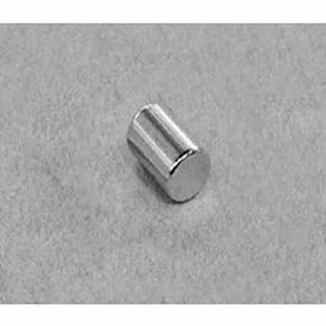 "D46 Neodymium Cylinder Magnet, 1/4"" dia. x 3/8"" thick"