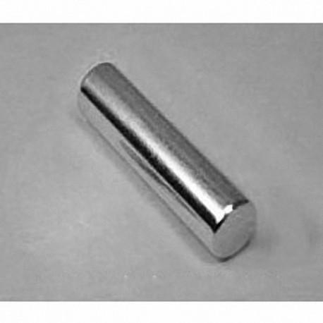 "D6X8 Neodymium Cylinder Magnet, 3/8"" dia. x 1 1/2"" thick"