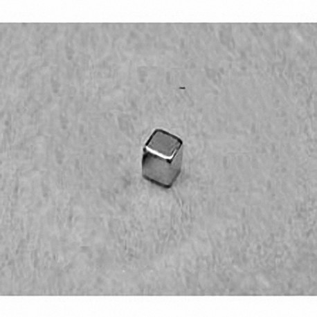 """B222 Neodymium Block Magnet, 1/8"""" x 1/8"""" x 1/8"""" thick"""