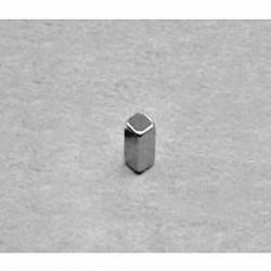 """B224 Neodymium Block Magnet, 1/8"""" x 1/8"""" x 1/4"""" thick"""