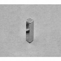 """B228 Neodymium Block Magnet, 1/8"""" x 1/8"""" x 1/2"""" thick"""
