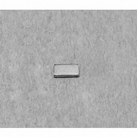 """B4201 Neodymium Block Magnet, 1/4"""" x 1/8"""" x 1/32"""" thick"""