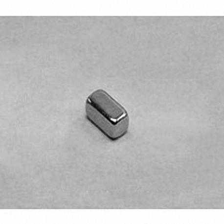 """B422 Neodymium Block Magnet, 1/4"""" x 1/8"""" x 1/8"""" thick"""