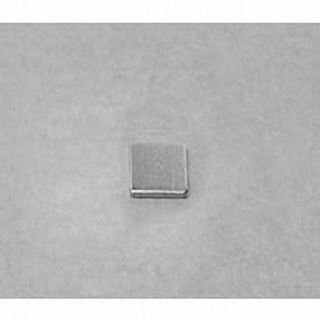 """B4401 Neodymium Block Magnet, 1/4"""" x 1/4"""" x 1/32"""" thick"""