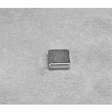 """B441 Neodymium Block Magnet, 1/4"""" x 1/4"""" x 1/16"""" thick"""