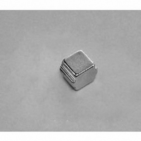 """SB443-OUT Neodymium Block Magnet, 1/4"""" length x 1/4"""" width x 3/16"""" thick , with step OUT"""