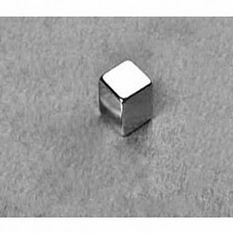 """B444 Neodymium Block Magnet, 1/4"""" x 1/4"""" x 1/4"""" thick"""