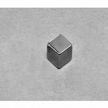 """B444B Neodymium Block Magnet, 1/4"""" x 1/4"""" x 1/4"""" thick"""