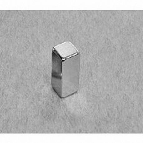 """B448 Neodymium Block Magnet, 1/4"""" x 1/4"""" x 1/2"""" thick"""