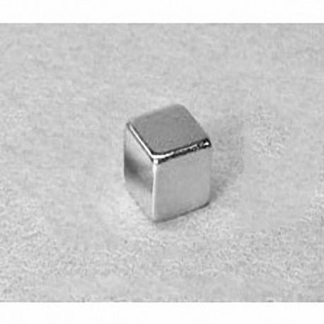 """B555 Neodymium Block Magnet, 5/16"""" x 5/16"""" x 5/16"""" thick"""
