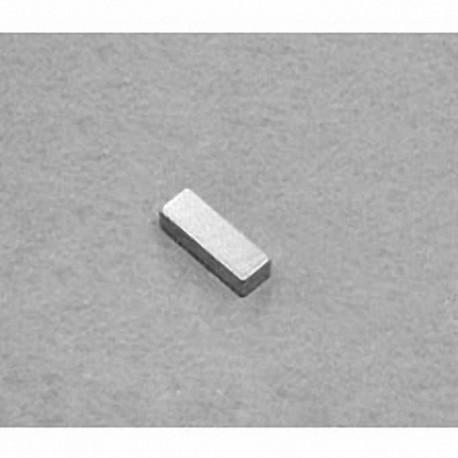 """B621 Neodymium Block Magnet, 3/8"""" x 1/8"""" x 1/16"""" thick"""