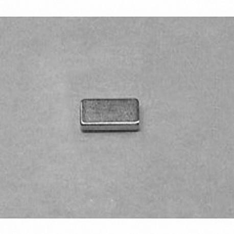 """B631 Neodymium Block Magnet, 3/8"""" x 3/16"""" x 1/16"""" thick"""