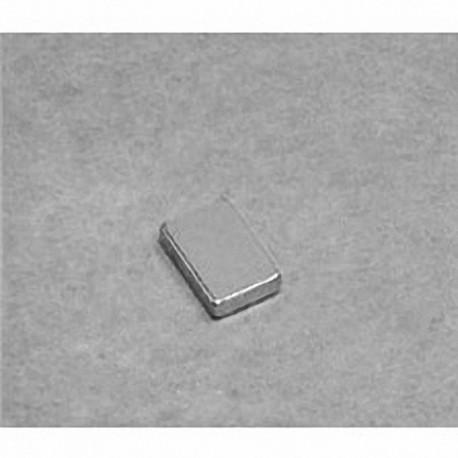 """B641 Neodymium Block Magnet, 3/8"""" x 1/4"""" x 1/16"""" thick"""