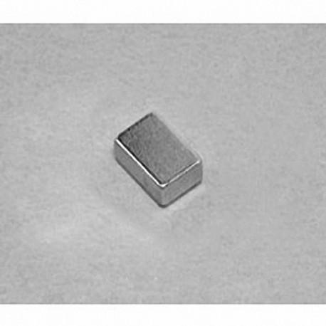 """B642 Neodymium Block Magnet, 3/8"""" x 1/4"""" x 1/8"""" thick"""