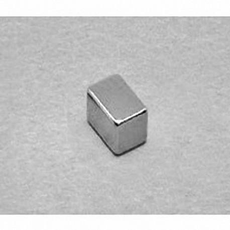 """B644 Neodymium Block Magnet, 3/8"""" x 1/4"""" x 1/4"""" thick"""