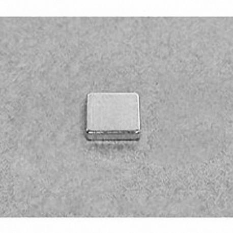"""B661 Neodymium Block Magnet, 3/8"""" x 3/8"""" x 1/16"""" thick"""