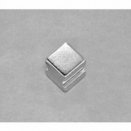 """SB664-IN Neodymium Block Magnet, 3/8"""" length x 3/8"""" width x 1/4"""" thick , with step IN"""