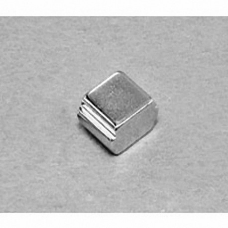 """SB664-OUT Neodymium Block Magnet, 3/8"""" length x 3/8"""" width x 1/4"""" thick , with step OUT"""