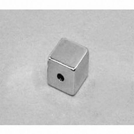 """B666-03 Neodymium Block Magnet, 3/8"""" x 3/8"""" x 3/8"""" (- 3/32"""" hole)"""
