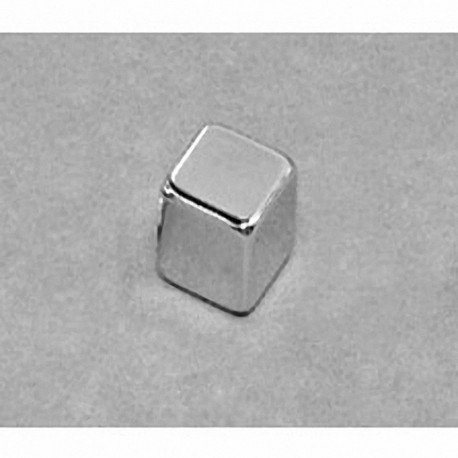 """B666-N52 Neodymium Block Magnet, 3/8"""" x 3/8"""" x 3/8"""" thick"""