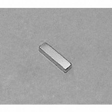 """B821 Neodymium Block Magnet, 1/2"""" x 1/8"""" x 1/16"""" thick"""