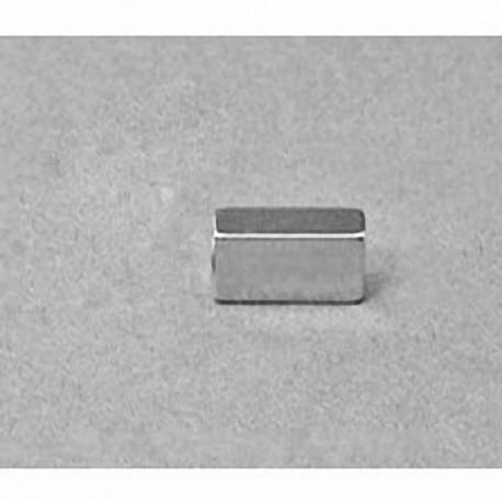 """B824 Neodymium Block Magnet, 1/2"""" x 1/8"""" x 1/4"""" thick"""