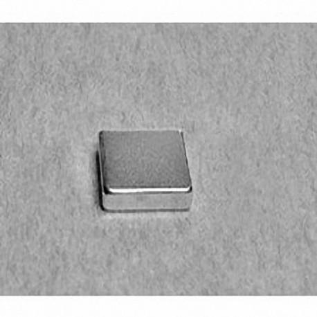 """B828 Neodymium Block Magnet, 1/2"""" x 1/8"""" x 1/2"""" thick"""