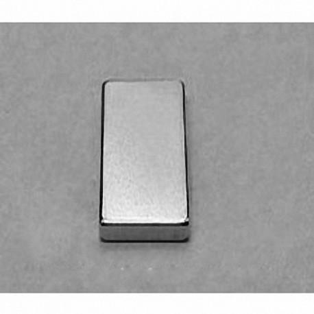 """B82X0 Neodymium Block Magnet, 1/2"""" x 1/8"""" x 1"""" thick"""