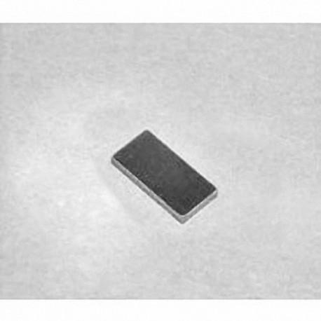 """B8401 Neodymium Block Magnet, 1/2"""" x 1/4"""" x 1/32"""" thick"""