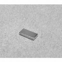 """B841 Neodymium Block Magnet, 1/2"""" x 1/4"""" x 1/16"""" thick"""