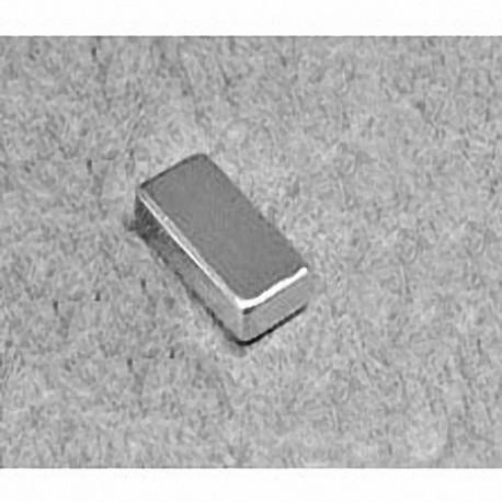 """B842 Neodymium Block Magnet, 1/2"""" x 1/4"""" x 1/8"""" thick"""