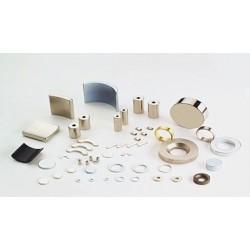"""B842-N52 Neodymium Block Magnet, 1/2"""" x 1/4"""" x 1/8"""" thick"""