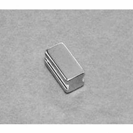 """SB483-IN Neodymium Block Magnet, 1/4"""" length x 1/2"""" width x 3/16"""" thick , with step IN"""