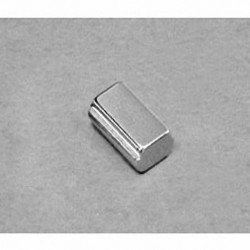 """SB483-OUT Neodymium Block Magnet, 1/4"""" length x 1/2"""" width x 3/16"""" thick , with step OUT"""