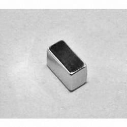 """B844 Neodymium Block Magnet, 1/2"""" x 1/4"""" x 1/4"""" thick"""