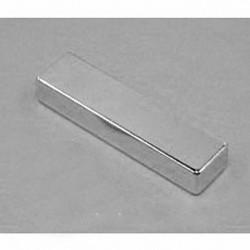 "B84Y0 Neodymium Block Magnet, 1/2"" x 1/4"" x 2"" thick"