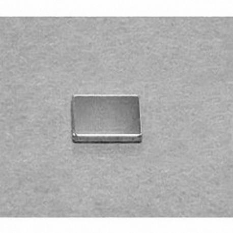 """B861 Neodymium Block Magnet, 1/2"""" x 3/8"""" x 1/16"""" thick"""