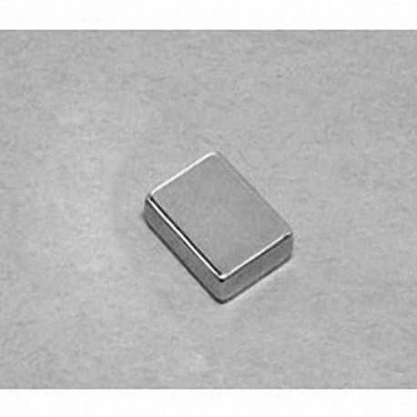 """B862 Neodymium Block Magnet, 1/2"""" x 3/8"""" x 1/8"""" thick"""