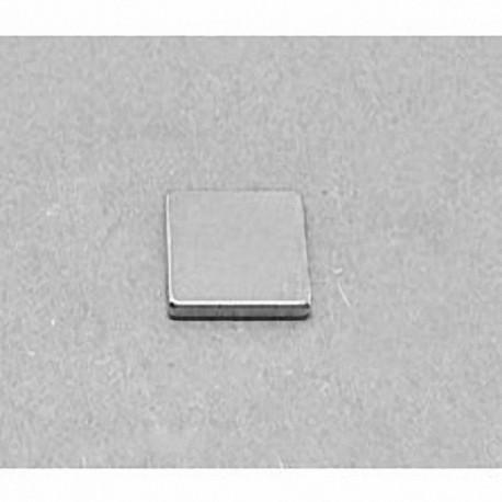 """B881 Neodymium Block Magnet, 1/2"""" x 1/2"""" x 1/16"""" thick"""