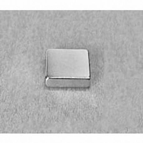 """B882 Neodymium Block Magnet, 1/2"""" x 1/2"""" x 1/8"""" thick"""