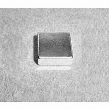 """B882G-N52 Neodymium Block Magnet, 1/2"""" x 1/2"""" x 1/8"""" thick"""