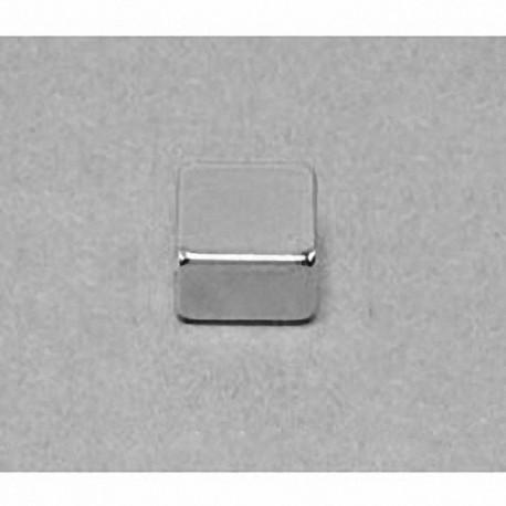"""B884 Neodymium Block Magnet, 1/2"""" x 1/2"""" x 1/4"""" thick"""