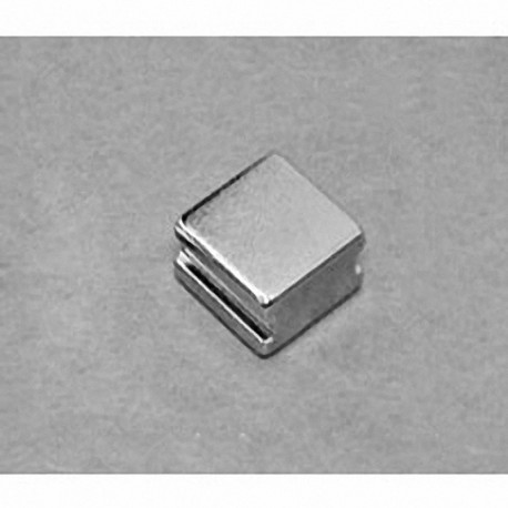 """SB884-IN Neodymium Block Magnet, 1/2"""" length x 1/2"""" width x 1/4"""" thick , with step IN"""